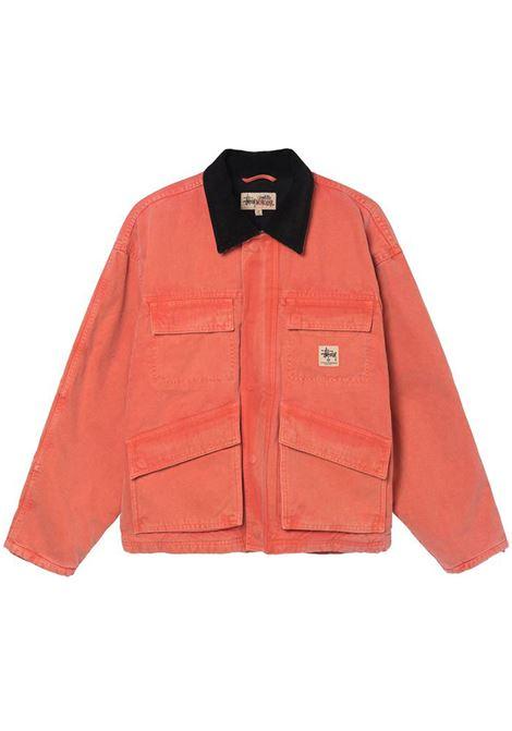 washed canvas shop jacket STUSSY | Giacche | 115589ORANGE