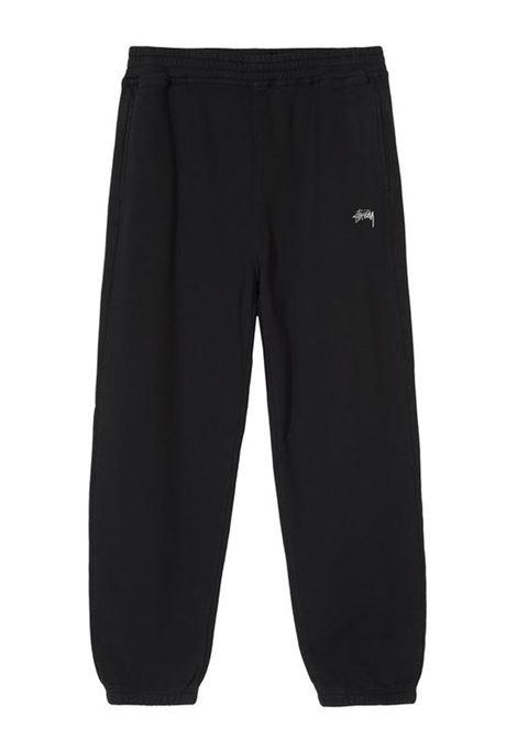 stock logo pant man black in cotton STUSSY | Trousers | 116481BLACK