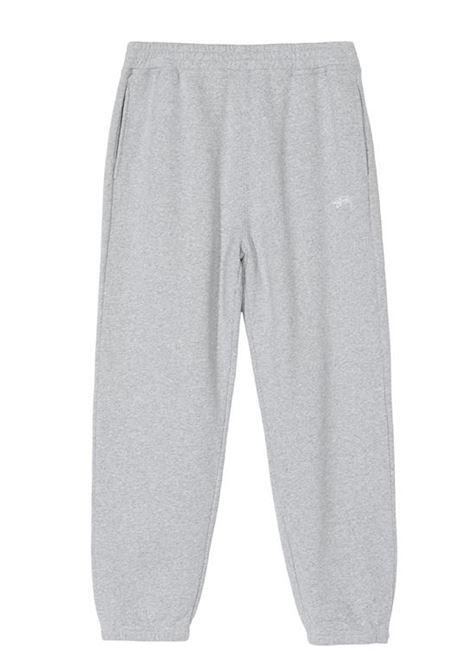 stock logo pant man gray in cotton STUSSY | Trousers | 116481GREY