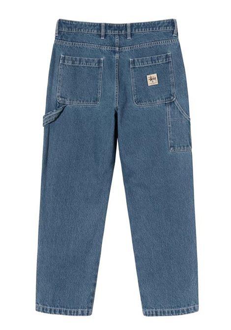 denim work pant man blue STUSSY | Jeans | 116482SBLUE
