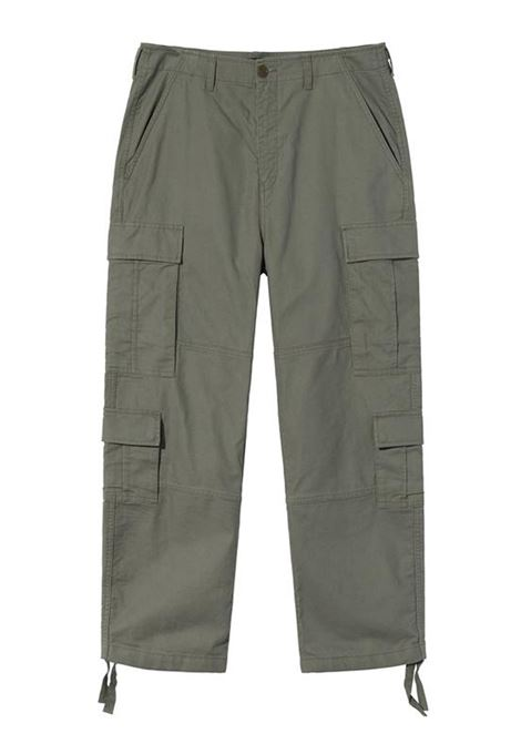 surplus cargo pant man green in cotton STUSSY | Trousers | 116502SOLIVE