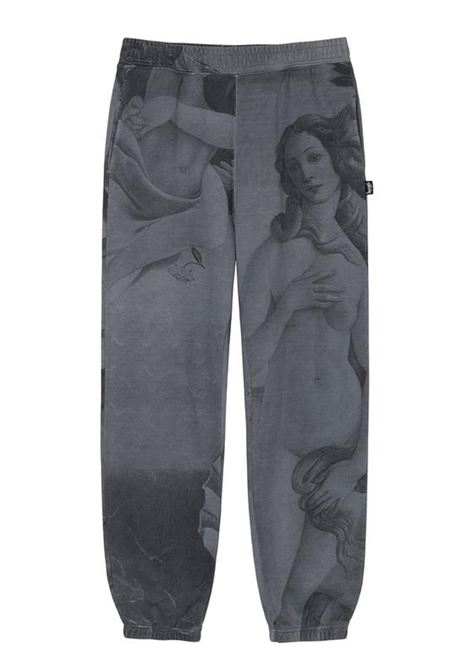venus dyed sweatpant man gray in cotton STUSSY | Trousers | 116512SBLACK