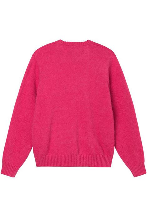 double cable sweater man pink STUSSY | Sweaters | 117096PINK