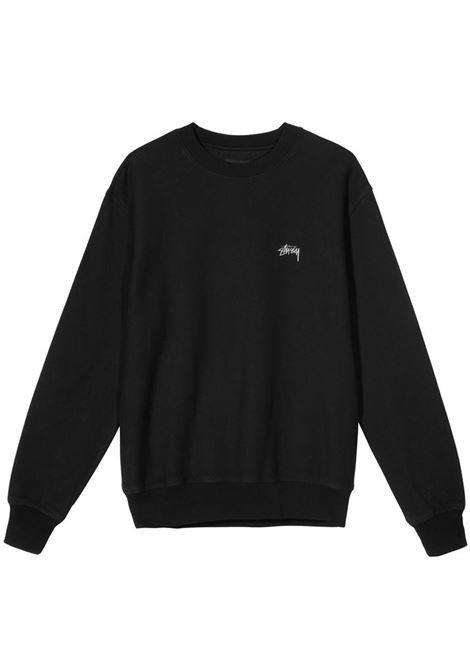 felpa stock logo uomo nera in cotone STUSSY | Felpe | 118416BLACK