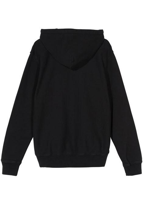 stock logo hoodie man black in cotton STUSSY | Sweatshirts | 118417BLACK
