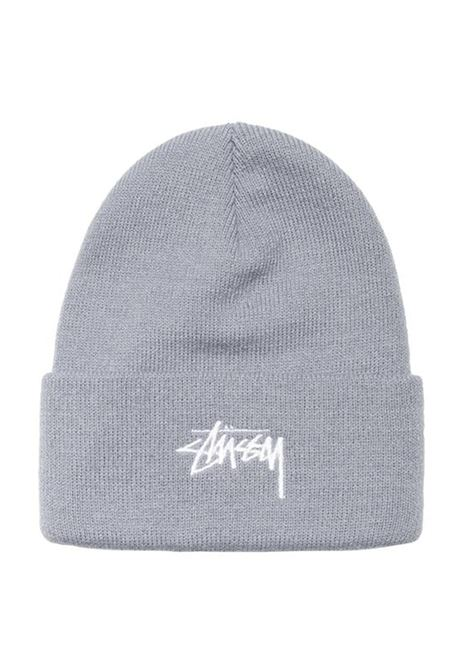 stock cuff beanie unisex gray in acrylic STUSSY | Hats | 1321020GREY