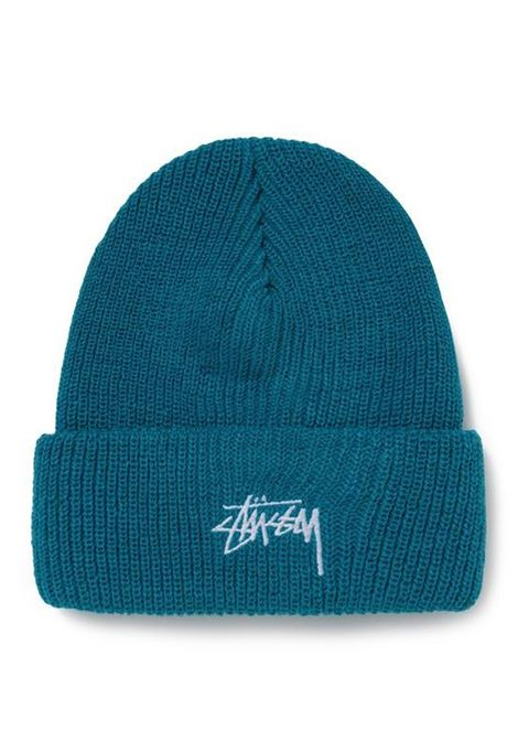 stock cuff beanie unisex teal in acrylic STUSSY | Hats | 1321020TEAL