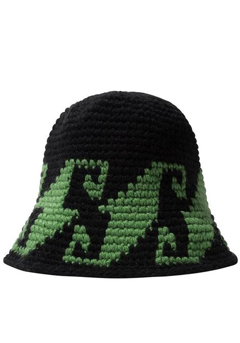 waves knit bucket hat unise black in acrylic STUSSY | Hats | 1321057BLACK