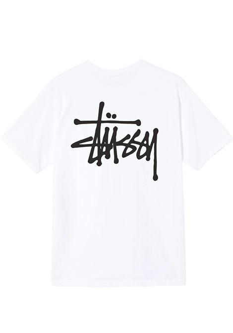 basic t-shirt man white in cotton STUSSY | T-shirts | 1904649SWHITE