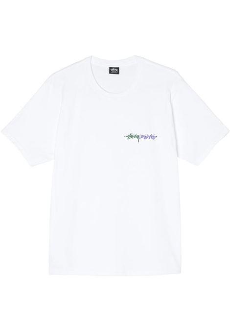 t-shirt positive vibration uomo bianca in cotone STUSSY | T-shirt | 1904711WHITE
