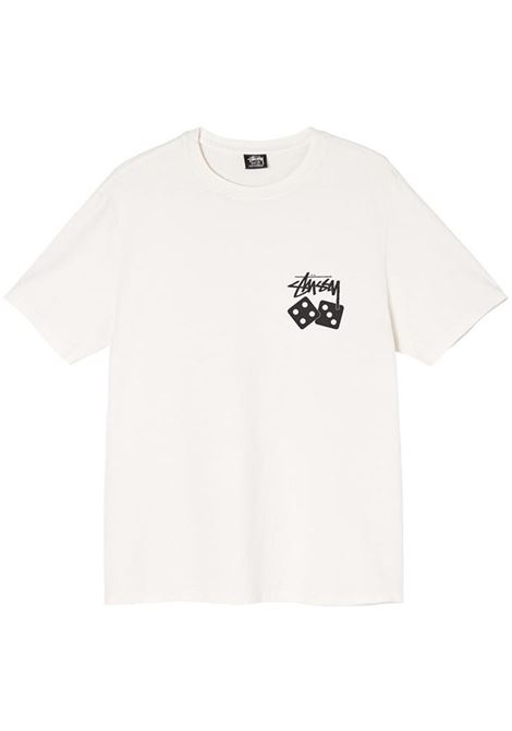dice pig dyed t-shirt man natural in cotton STUSSY | T-shirts | 1904721NATURAL