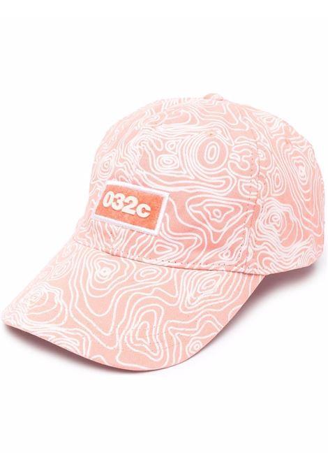 Logo hat pink man cotton 032c | Hats | SS21-A-0031EX NEON CORAL