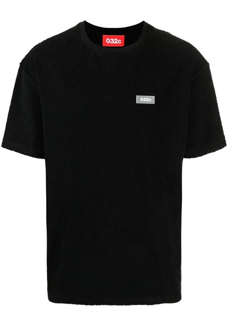 032c t-shirt con patch logo uomo nero 032c | T-shirt | SS21-C-1010BLACK