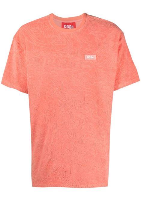 032c logo t-shirt man pink 032c | T-shirts | SS21-C-1011CORAL