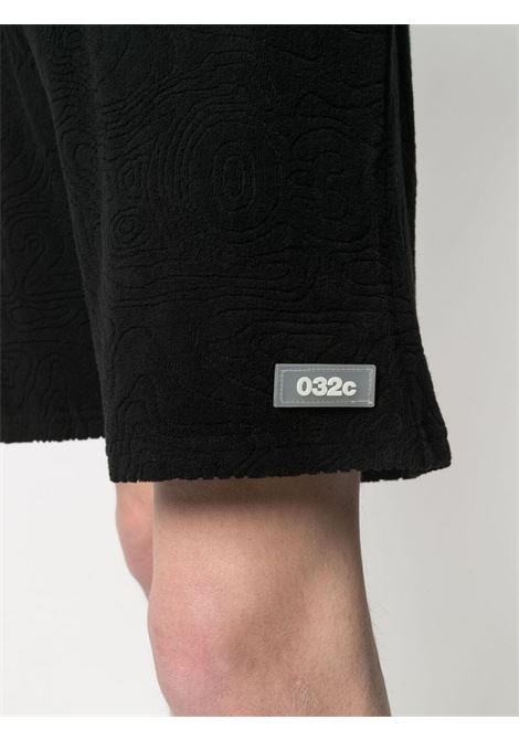 032c bermuda con patch logo uomo nero 032c | Bermuda | SS21-C-3010BLACK