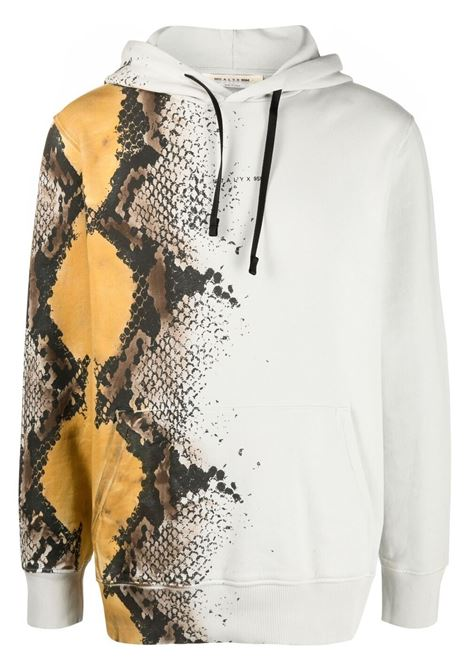 1017 Alyx snakeskin print sweatshirt man white 1017 ALYX 9SM | Sweatshirts | AAMSW0098FA01MTY0001