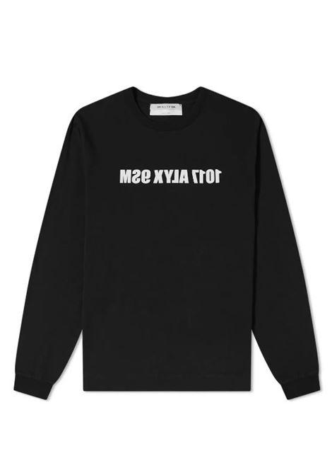 1017 Alyx 9sm logo t-shirt man black 1017 ALYX 9SM | T-shirts | AAMTS0221FA01BLK0001