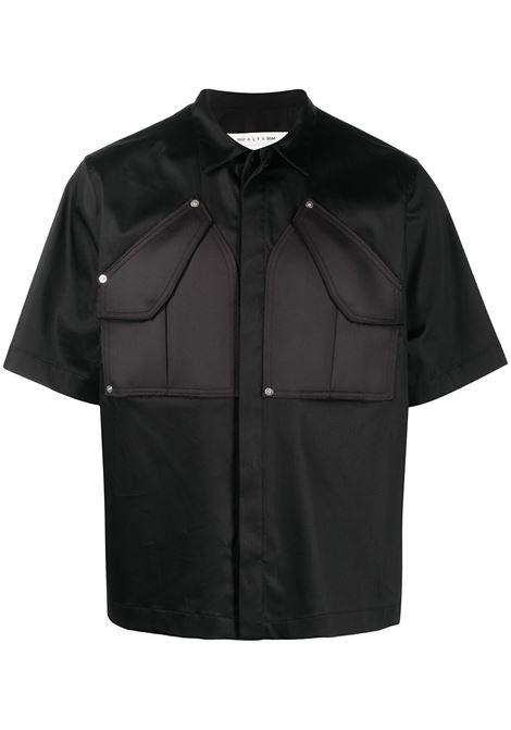 1017 Alyx 9Sm cargo shirt man black 1017 ALYX 9SM | Shirts | AAUSH0102FA01BLK0001