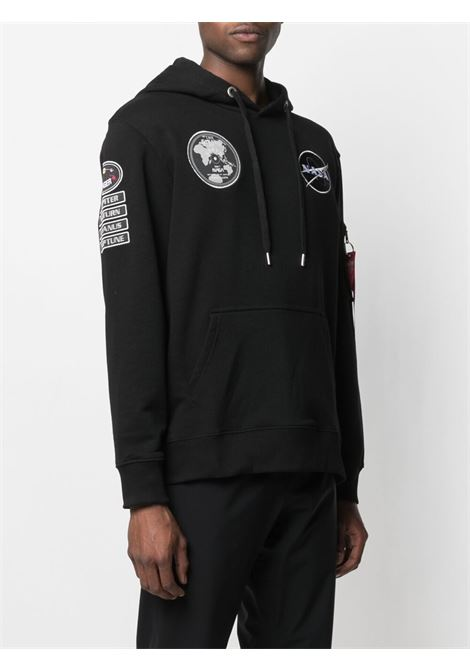 Alpha Industries nasa voyager hoodie man black ALPHA INDUSTRIES | Sweatshirts | 116330A515