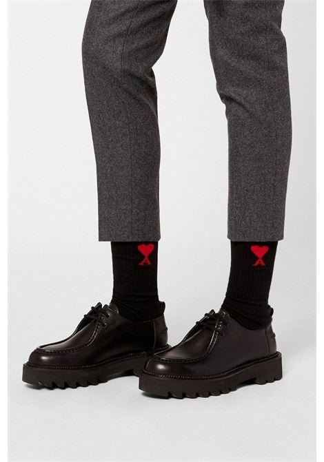 Ami - Alexandre Mattiussi 3 pack calzini con logo uomo AMI - ALEXANDRE MATTIUSSI | Calzini | BFA600.377001