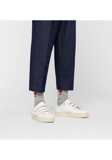 Ami Alexandre Mattiussi 3 pack socks man multicolor AMI - ALEXANDRE MATTIUSSI | Socks | BFA600.377971