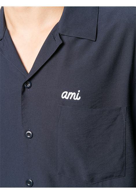 CAMICIA CON LOGO RICAMATO AMI - ALEXANDRE MATTIUSSI | Camicie | E21HC200.452410