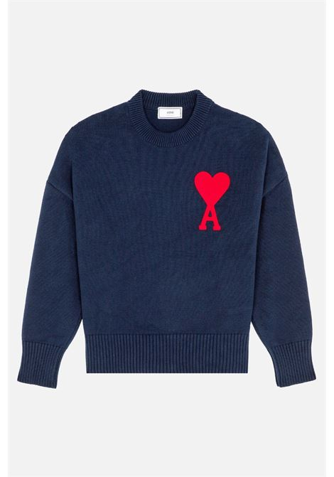 Ami - Alexandre Mattiussi maglione con logo uomo AMI - ALEXANDRE MATTIUSSI | Maglieria | E21HK009.016410