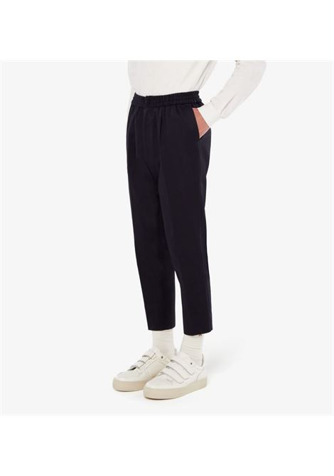 ELASTICATED WAIST CROPPED TROUSERS AMI - ALEXANDRE MATTIUSSI | Trousers | E21HT206.288410