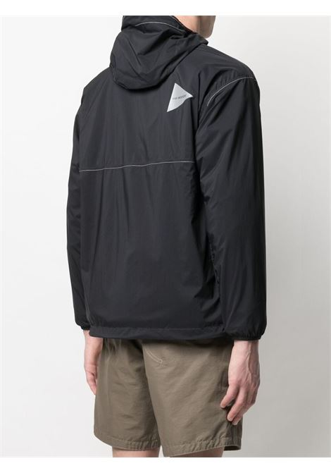 And Wander logo print lighweight jacket man black AND WANDER | Jackets | 5740921034010
