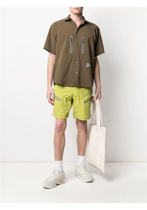 And Wander belted shorts man yellow AND WANDER | Shorts | 5741152046200