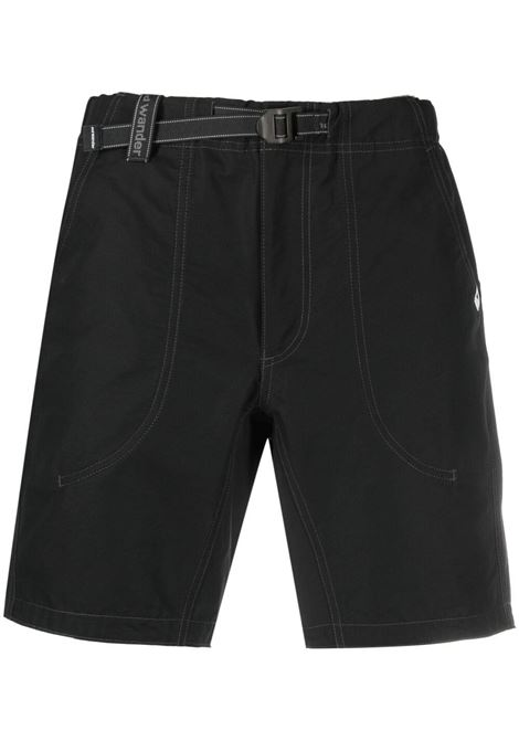 And Wander belted shorts man black AND WANDER | Shorts | 5741152068010
