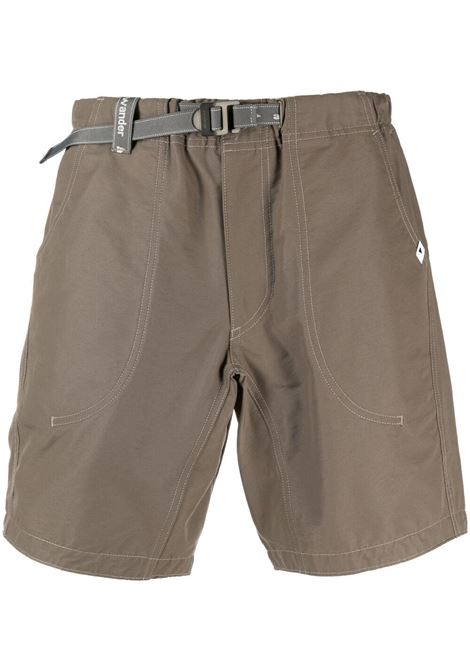 And Wander belted shorts man green AND WANDER | Shorts | 5741152068400