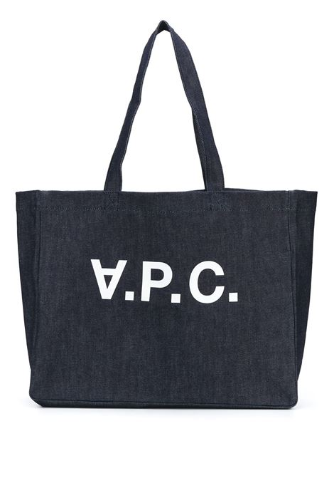 SHOPPER IN DENIM A.P.C. | Borse | COCSX-M61446IAI