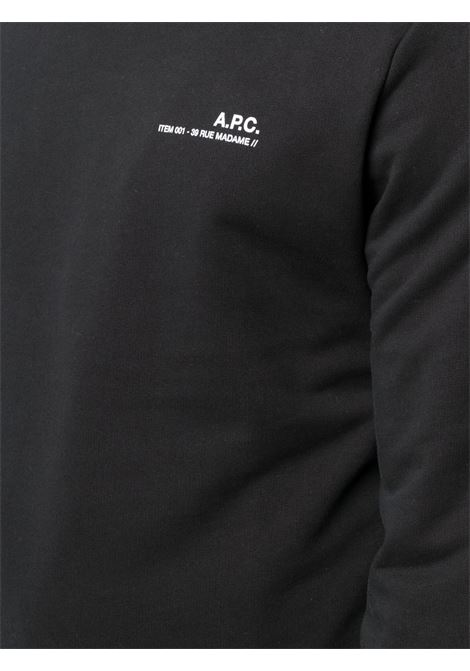 A.P.C. felpa con logo uomo A.P.C. | Felpe | COEAS-H27608LZZ