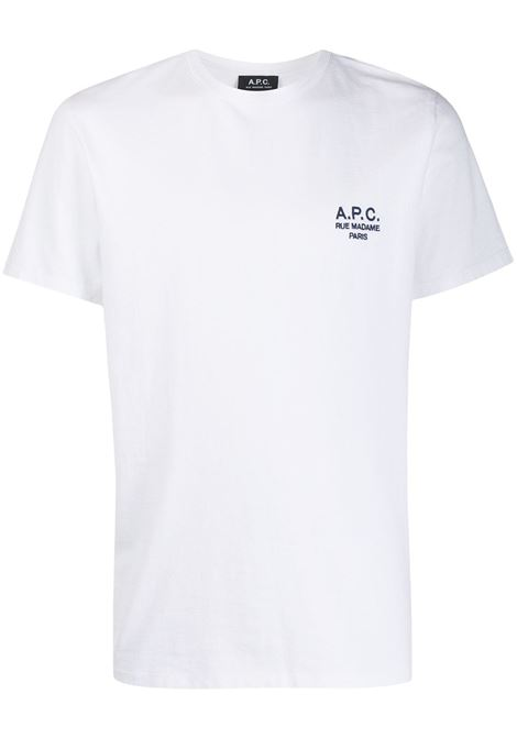 EMBROIDERED LOGO T-SHIRT A.P.C. | T-shirts | COEAV-H26840AAB