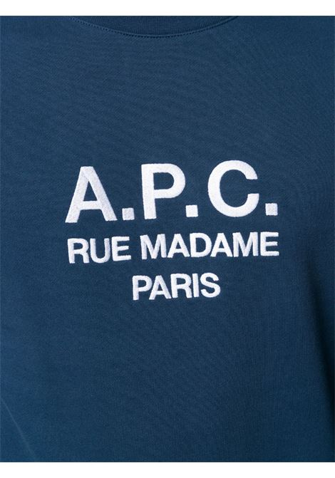 A.P.C. felpa con logo uomo A.P.C. | Felpe | COEBH-H27500IAJ