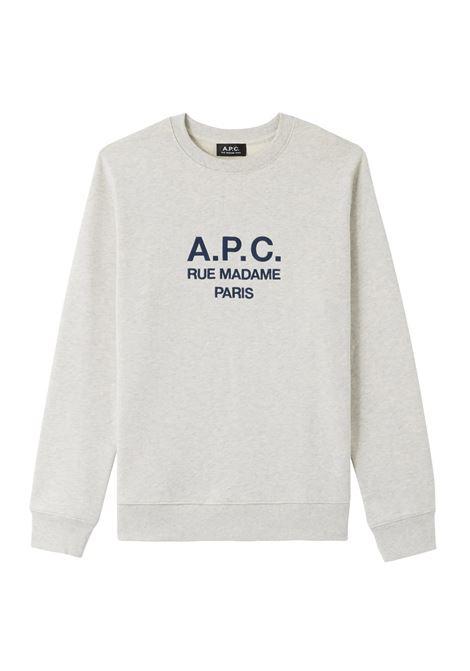 A.P.C. felpa con logo uomo A.P.C. | Felpe | COEBH-H27500PAA