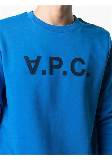 A.P.C. felpa con logo uomo A.P.C. | Felpe | COECQ-H27378IAG