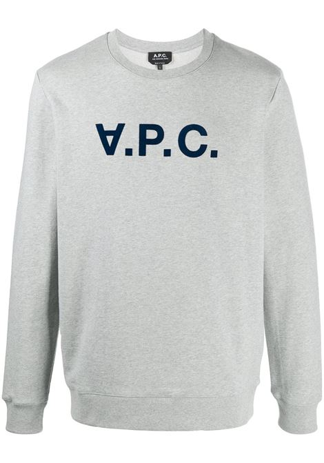 A.P.C. felpa con logo uomo A.P.C. | Felpe | COECQ-H27378PLA