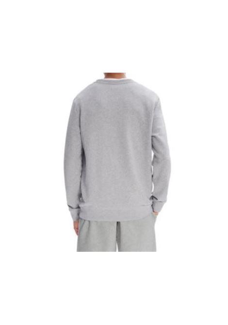 felpa con logo uomo grigia in cotone A.P.C. | Felpe | COECQ-H27378PLA