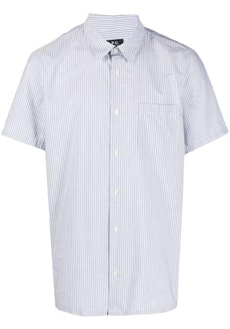 A.P.C. camicia a righe uomo A.P.C. | Camicie | COEMO-H12347KAE