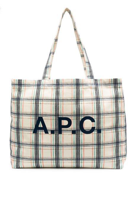 PLAID CHECK LOGO BAG A.P.C. | Bags | COEQV-M61443SAA