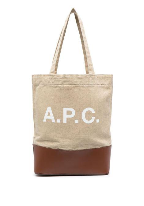 A.P.C. borsa con logo unisex beige A.P.C. | Borse | LIADU-M61444CAD