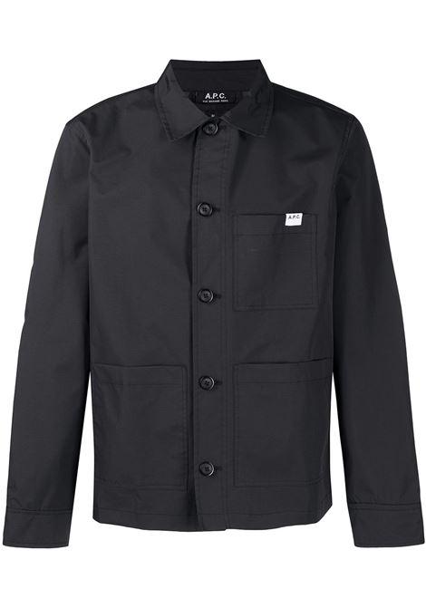 A.P.C. giacca con patch logo uomo A.P.C. | Giacche | PAAEE-H02609LZZ