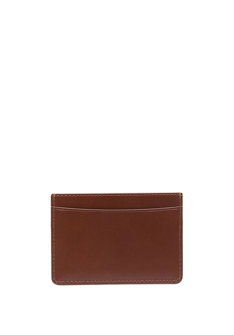 EMBOSSED LOGO CARDHOLDER A.P.C. | Wallets | PXAWV-H63028CAD