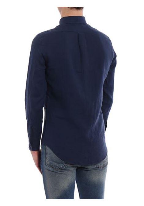 Magra linen shirt blu man ASPESI | Shirts | CE14 C19585098