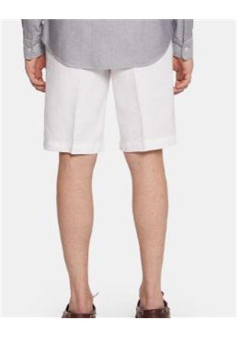 Bowl linen shorts white man ASPESI | Shorts | CQ21 C25385072