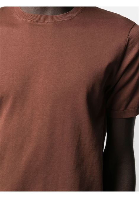 Aspesi short sleeved cotton t-shirt man brown ASPESI | T-shirts | M149 337101027