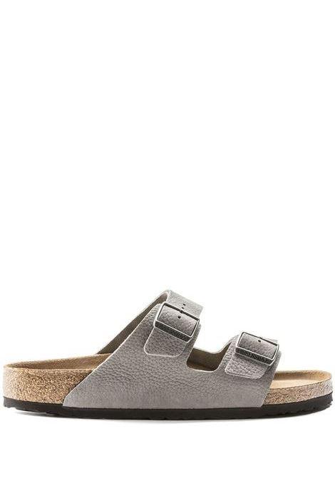 Sandalo Arizona Grigio Pelle Uomo BIRKENSTOCK | Sandali | 1019031GREY
