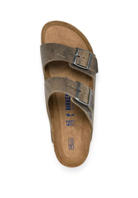 Arizona Sandals Khaki Leather Man BIRKENSTOCK   Sandals   1019377KHAKI